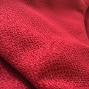 Swim - Deep red ribbed bikini